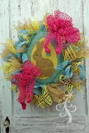 diy burlap bunny wreath tutorial trendy tree