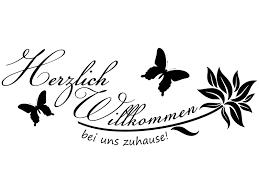 Wandtattoo Spruch Herzlich Willkommen Bei Uns Zuhause Wandtattoo