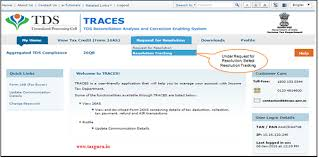 Raise Request How To Raise Request For Resolution Track On Traces Taxguru