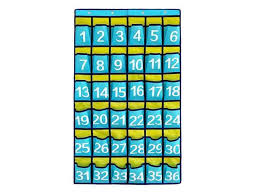 Chart Holder For Classroom Misdecor 36 Pockets Numbered Classroom Chart Cell