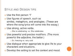 narrative essay presentation ii 10