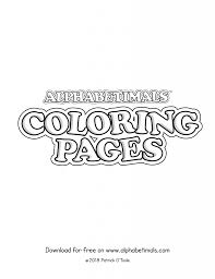 While you're waiting be sure to browse all our free coloring pages. Printable Coloring Pages Uppercase Letters Animals Alphabetimals