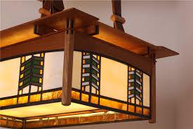 style lighting. Prairie Style Glass \u0026 Cherry Ceiling Light. Lighting