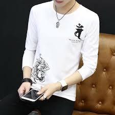 Autumn Chinese Style Print Long-sleeved Shirt Men's <b>Guanyin</b> ...