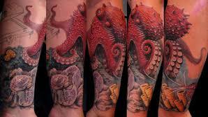 Tetovací Chobotnice Význam Legendy A Mýty Výběr Náčrtu