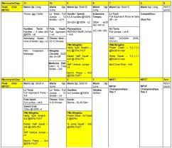 multi event schedule