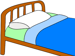 blanket and pillow clipart. colored bed clip art blanket and pillow clipart