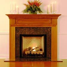 image of wood fireplace mantels for