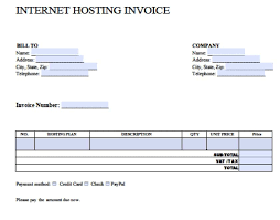 invoice template word free internet hosting invoice template excel pdf word doc