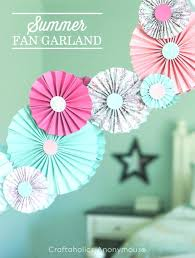 diy party decorations easy paper fan garland quick and decors tissue