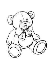 Small Picture Free Teddy Bear Coloring Page
