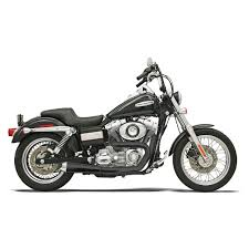 Bassani - Road Rage 2-Into-1 Upswept Exhaust Short - 1991-2017 Dyna FXD -  Non-Stepped 1 3/4