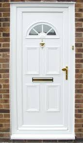 white front door. Front Home Door With White Color O