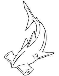 hammerhead shark clipart black and white. Interesting Hammerhead Hammerhead Shark Coloring Page And Clipart Black White M
