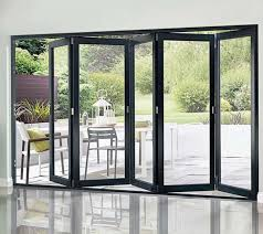 bi fold sliding glass doors glass