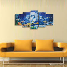 5 panel whale painting canvas wall art picture home decoration living room canvas print modern painting  on interior design canvas wall art with 2018 5 panel whale painting canvas wall art picture home decoration