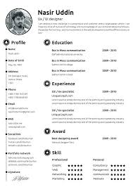 Free Resume Layout Template Classy Best One Page Resume Template Free Resume Templates Best Template