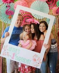flamingo first birthday backdrop party photobooth photo booth ideas