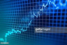 Stock Market Graph And Bar Chart Price Display Clipart Image