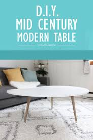 a simple diy mid century modern coffee table