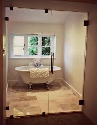 glass in his bathroom by choosing our customer in barnstone chose to add an elegant yet modern entrance to their new en