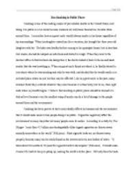 argumentative essay about why smoking should be banned gcse  page 1 zoom in