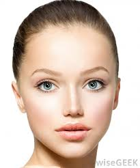 women with oval faces should consider first applying a base foundation then a second darker foundation to highlight the cheeks and chin