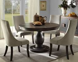 brown round dining table regarding white round dining table 4 legs
