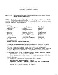 Real Estate Sales Agent Resume No Experience Cover Letter With Pdf