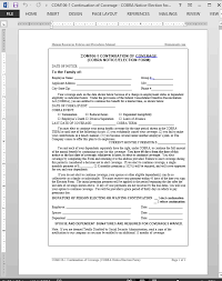 cobra enrollment form 20 images of employee benefit election form template kpopped com