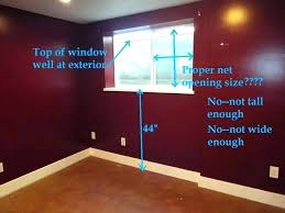Bedroom Window Size Minimum For Egress From A Basement Standards Inspiration Egress Requirements For Bedroom Windows