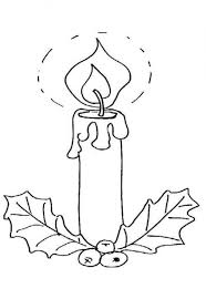 Small Picture Free Coloring Pages For Christmas Candle Christmas Coloring
