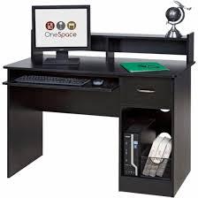 OneSpace - Computer Desk - Black - Front_Zoom