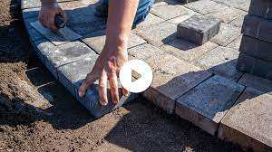 how to lay a circular patio hardscape