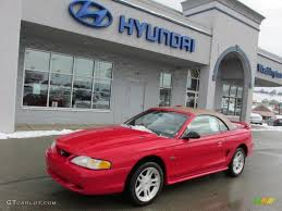 1998 Vermillion Red Ford Mustang GT Convertible #76873657 ...