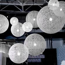 hemp round ball modern pendant lamp