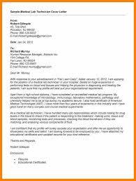 Application Letter For Medical Technologist Cover Letter Examples