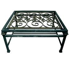 wrought iron and glass coffee table outdoor black
