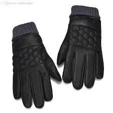 2019 whole jim autumn winter warm fashion genuine leather gloves men waterproof windstopper glove leather fashion mens leather gloves from