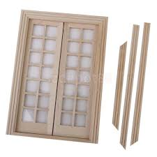 frequently bought together vintage dollhouse miniature double french wood doors frame diy accessory