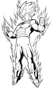 Dragon Ball Z Vegeta Super Saiyan Coloring Pages Drawings Dragon