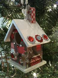 Unique Handmade Wooden Birdhouse Ornament by BirdhouseGiftGallery, $10.00   Thanksgiving CraftsChristmas ...
