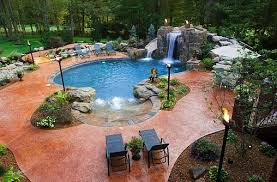 cool home swimming pools.  Cool View In Gallery Cool Gas Torches Enliven The Outdoor Landscape Inside Home Swimming Pools