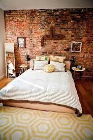wallpaper brick wall bedroom