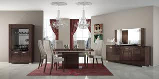 excellent formal dining room furniture with tile floor and crystal chandelier