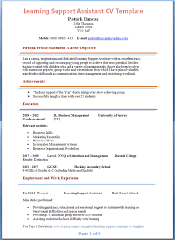 Cv For Teaching Learning Support Assistant Cv Example Preview Job Tips Resume