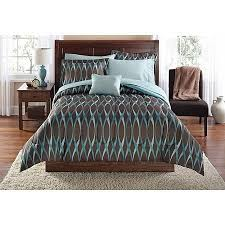 mainstays wavy bed in a bag bedding