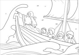 Jesus Stops The Storm Coloring Pages