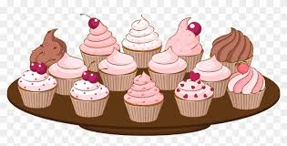 Cupcake Clipart Border Bake Sale Clipart Png Free Transparent