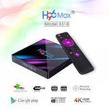 H96 Max Smart TV Box Android 10.0 RK3318 4G 64G USB3.0 1080P H.265 60fps  Google Voice Assitant Youtube 4K Smart TV box 9.0 H96ma